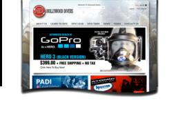 Hollywood Divers Website