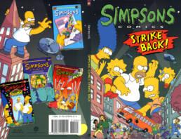 Simpson Comics Strike Back Cover Art
