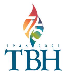 Temple Bell Hillel 75th Anniversary Logo